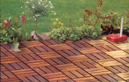 akazie holzfliesen holzfliese balkon terrasse garten 30 x 30 cm. Black Bedroom Furniture Sets. Home Design Ideas
